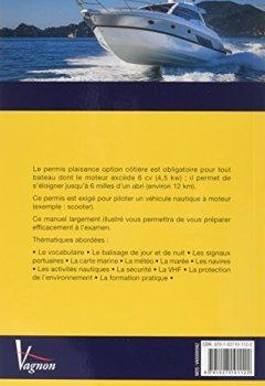 Livres Couvertures de Code Vagnon permis plaisance, option côtière : Avec un memento