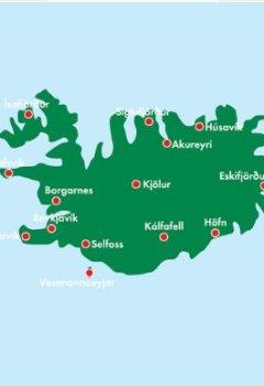 Livres Couvertures de Carte routière : Islande - Iceland