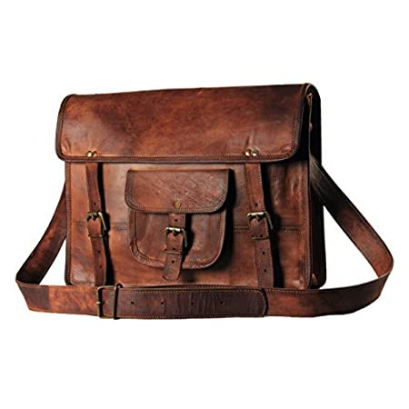 "The bag is especially designed for your comfort while looking very stylish at the same time. It will fit a 15""or smaller laptop along with your personal belongings. The leather of the bag is very special. It has only been treated with natural oils an..."