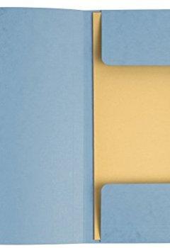 Livres Couvertures de Exacompta - Réf 55510E - Un Paquet de 10 Chemises à Élastiques 3 Rabats en Carte Lustrée 400 g/m² 24x32 cm 10 Couleurs Assorties