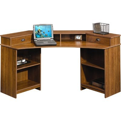 Picture of Comfortable Sauder Whistler Corner Computer Desk (Shaker Cherry) (B002YX3MRE) (Computer Desks)