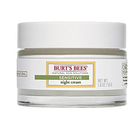 Wake up to skin that's more moisturized with Burt's Bees® Sensitive Night Cream. This rejuvenating cream jar helps hydrate sensitive skin overnight without causing redness or irritation. It's formulated with softening cotton extract to help skin repl...