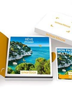 Livres Couvertures de SMARTBOX - Coffret Cadeau - RÊVE D'ÉVASION - 5560 expériences : séjour, séance bien-être, gastronomie ou aventure