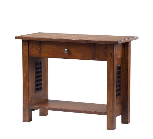 Image of Entryway Console Sofa Table with Drawer in Dark Mission Finish (VF_AZ00-52364x26006)