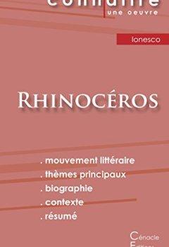 Livres Couvertures de Fiche de lecture Rhinocéros de Eugène Ionesco (analyse littéraire de référence et résumé complet)