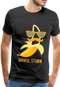 Livres Couvertures de Spreadshirt Wankil Studio Banane Hipster T-shirt Homme, M, noir