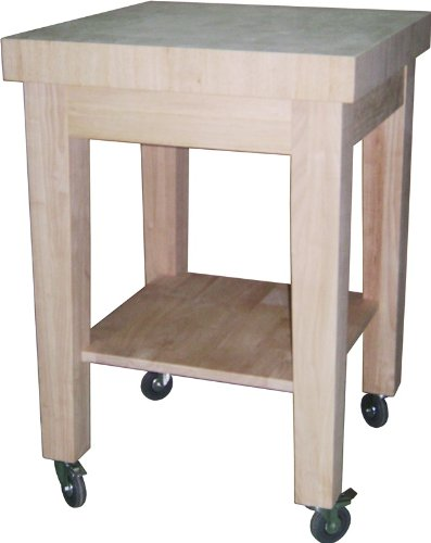 Image of International Concepts Kitchen Island - Natural Finish (WC-2424)