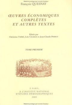 Livres Couvertures de Oeuvres économiques complètes et autres textes en 2 volumes