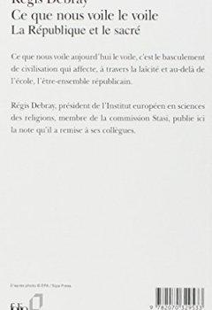 Livres Couvertures de Ce que nous voile le voile: La République et le sacré
