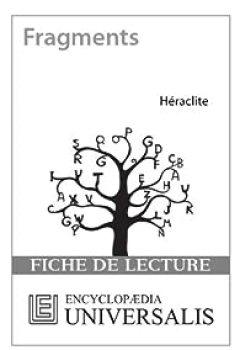 Livres Couvertures de Fiche de lecture Universalis. Fragments d'Héraclite