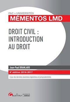 Livres Couvertures de Mémentos LMD - Droit civil : Introduction au droit, 4ème Ed.