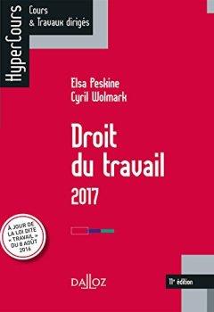 Livres Couvertures de Droit du travail 2017 - 11e éd.