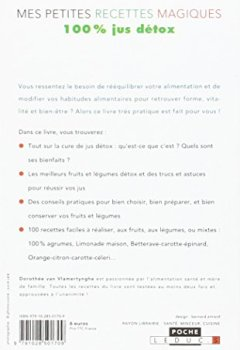 Livres Couvertures de Mes petites recettes magiques 100% jus détox : Antioxydantes, énergisantes, ventre plat : 100 recettes de jus de légumes, de fruits ou mixtes pour votre santé