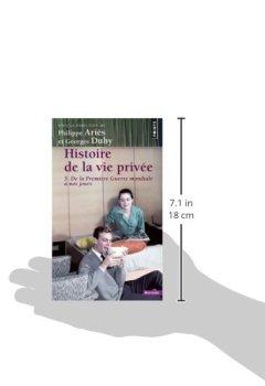 Livres Couvertures de Histoire de la vie privée. Tome V. De la Première Guerre mondiale à nos jours