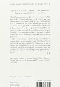 Livres Couvertures de Manifeste pour la terre et l'humanisme : Pour une insurrection des consciences
