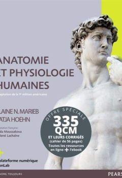 Livres Couvertures de Anatomie et physiologie humaine 9e ; Livret de QCM corrigés : Pack en 2 volumes