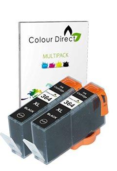 Livres Couvertures de 2 X Noir Colour Direct Compatible Cartouches d'encre Remplacement Pour HP 364XL - HP Deskjet 3070A, 3520, Officejet 4610, 4620, 4622, Photosmart 5510, 5510, 5512, 5514, 5515, 5520, 5522, 5524, 5525, 6510, 6520, 6525, 7510, 7520, B010a, B109a, B109c, B109d, B110a, B110c, B110d, B110e, B110f, B8550, B8553, C5380, C5383, C5390, C6300, C6380, CN245b, D5460, D5463, D7560, C510, B209, B209a, B210, B210a, B210b, B210c, B210e, C309, C309h, C309n, C310, C310a, C309a, C309c, C410b imprimeur