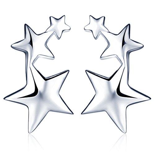 Infinite U Boucle doreille trois /étoiles aimable /à le rang en S925 argent fin Clou doreille /él/égant /à la mode pour femme fille