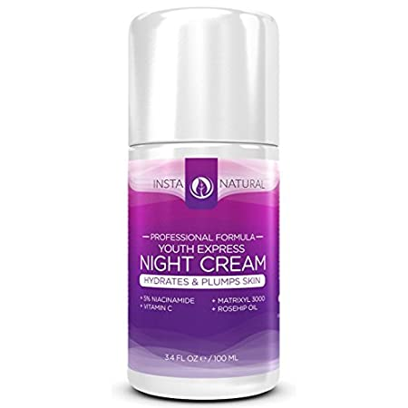 InstaNatural's Night Cream Moisturizer is a perfect anti-aging & hydrating solution. It's especially good for those looking to reduce the appearance of fine lines and wrinkles. It's also great for sensitive skin and for those prone to breakouts and o...