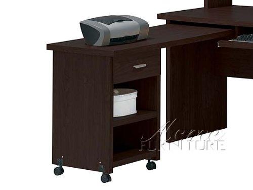 Picture of Comfortable New Espresso Finish Computer Side Desk ACS004694 (B004SPIO2Y) (Computer Desks)