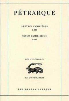 Livres Couvertures de Lettres familières, tome I, Livres I-III