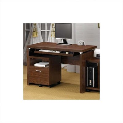 Picture of Comfortable Computer Desk in Oak - Coaster (B002LIM1N8) (Computer Desks)