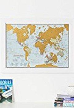 Livres Couvertures de Carte du monde Scratch the World® - édition de voyage - cadeau de voyage - format A3 42cm (largeur) x 29,7 cm (hauteur)