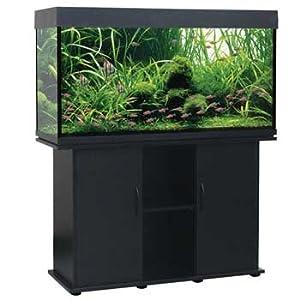 Rectangular Aquarium and Stand, Black, 75 Gallon : Pet Supplies