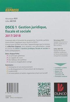 Livres Couvertures de DSCG 1 - Gestion juridique, fiscale et sociale 2017/2018- 7e éd. - L'essentiel en fiches