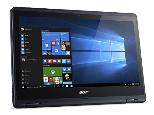"Acer R5-471T-571B Aspire Notebook, Display da 14"" FHD IPS Multi-Touch LCD, Processore Intel Core i5-6200U, RAM 4GB, SSD da 256GB, Nero"