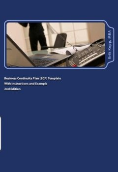 Livres Couvertures de [(Business Continuity Plan (Bcp) Template with Instructions and Example )] [Author: Erik Kopp] [Sep-2011]