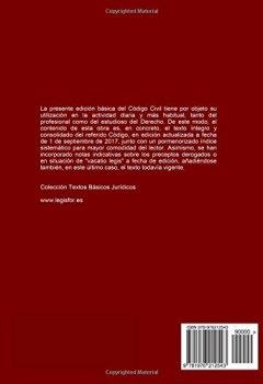 Portada del libro deCódigo Civil: 4.ª edición (septiembre 2017). Colección Textos Básicos Jurídicos