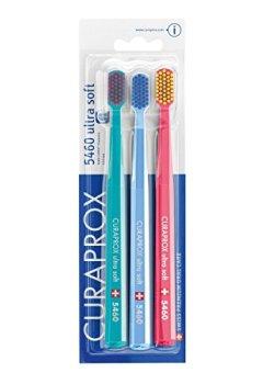 Abdeckungen Curaprox CS 5460 Handzahnbürste Ultra soft, 3 Stück, (farblich sortiert, Farbe nicht wählbar)