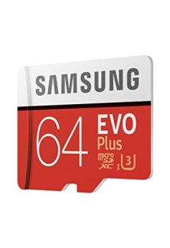 Livres Couvertures de Samsung MB-MC64GA/EU Carte mémoire MicroSD  Evo Plus 64G avec adaptateur SD