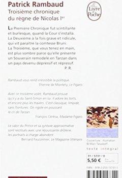 Livres Couvertures de Troisième chronique du règne de Nicolas 1 er