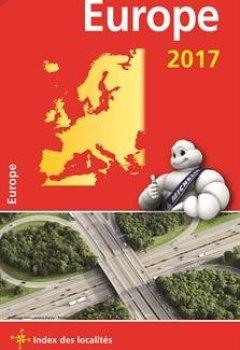 Livres Couvertures de Carte Europe Michelin 2017