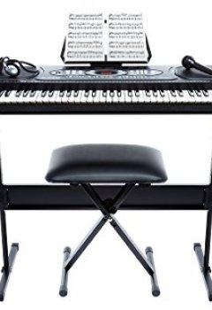 Livres Couvertures de Alesis Melody 61   Piano Numérique 61 Touches Portable avec Haut-Parleurs Intégrés et 200 Sons – Inclus Microphone, Casque Audio, Pupitre, Support et Banquette