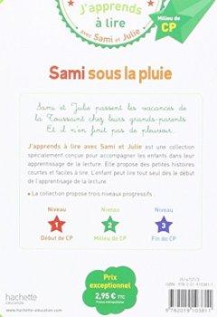 Livres Couvertures de Sami et Julie CP Niveau 2 Sami sous la pluie