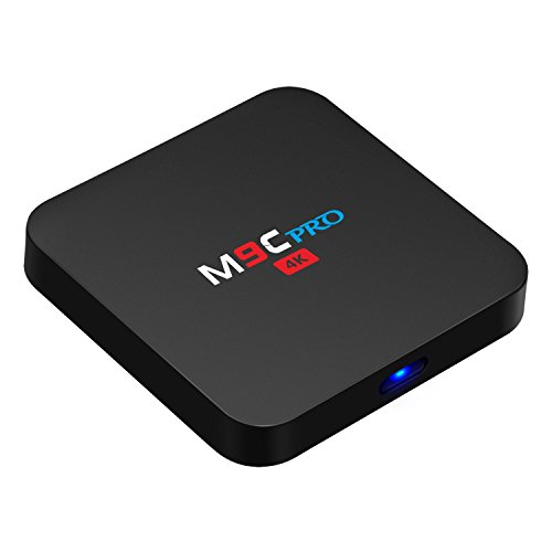 Bqeel M9C Pro Android Tv Box 6.0 4K Amlogic S905X Chipset-Quad Core [1G/8G] with Kodi 16.1 Fully Loaded-Support Ultra-Fast Streaming Media Player