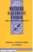 Livres Couvertures de Matière, électricité, énergie