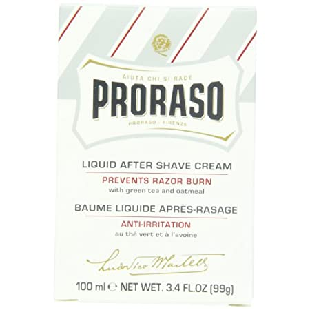 Proraso Liquid Aftershave Cream combines the soothing effects of a balm with the protective and moisturizing qualities of a cream. Contains Green Tea Extract and oatmeal extract. Oat Extract has a soothing effect, while respecting the skin's natural ...