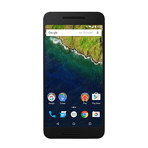 Huawei Nexus 6P Smartphone, Display 5.7 pollici, Memoria interna 32 GB, 3 GB RAM, Fotocamera 12.3 MP, Android 6.0, Grigio