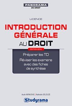 Livres Couvertures de Introduction Generale au Droit Édition 2014