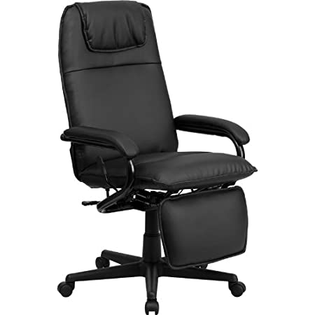 Go from sitting to a Reclined and Relaxed position in seconds with this Reclining High Back Executive Office Chair. Now you can have the best of both worlds with this dual designed office chair that offers you the comfort of a recliner in an office c...