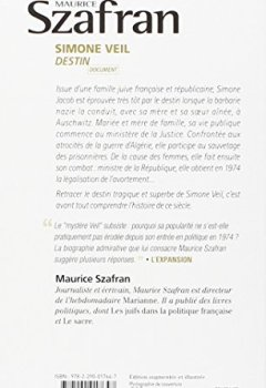 Livres Couvertures de Simone Veil Destin