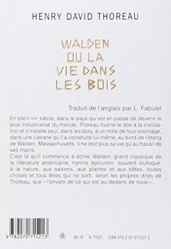 Livres Couvertures de Walden ou La vie dans les bois