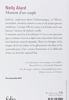 Livres Couvertures de Moment d'un couple - Prix Interallié 2013