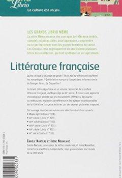 Livres Couvertures de Littérature française : Les grands mouvements littéraires du Moyen-Age au XXe siècle