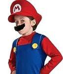 [笑顔一番]マリオ 子供用 コスチューム コスプレ 衣装 [A003-131] (2) Sサイズ 120-130