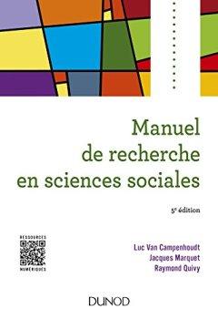 Livres Couvertures de Manuel de recherche en sciences sociales - 5e éd.